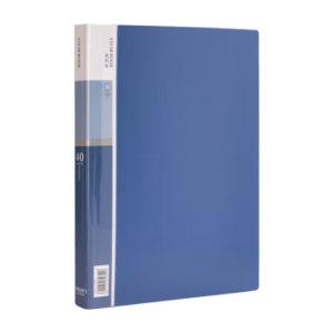 DELI/得力 资料册 5004 40页 蓝色 1本