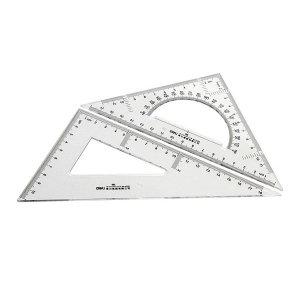 DELI/得力 塑料三角尺 6420 20cm 有效刻度18cm 1套