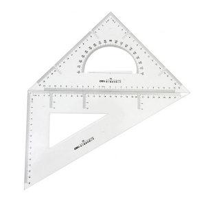 DELI/得力 塑料三角尺 6430 30cm 有效刻度28cm 1套
