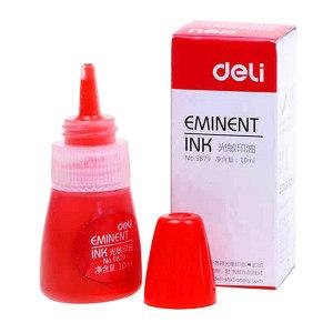 DELI/得力 光敏印油 9879 10ml 红色 1瓶
