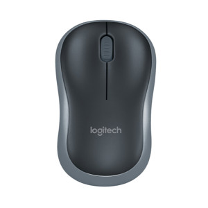 LOGITECH/罗技 无线鼠标 M185 黑色灰边 1个