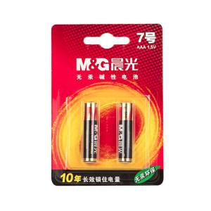 M&G/晨光 7号碱性电池 ARC92555 2粒装 1包