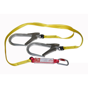 BAIYEAN/百业安 双大钩安全织带 EPI-31002C 1.2m(绳到缓冲包 不含钩) 1件
