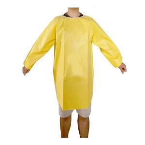 XIANGSEN/祥森 防化反穿围裙 GD4311 均码 黄色 1件