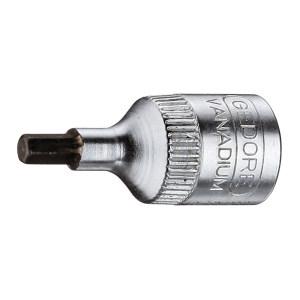 """GEDORE/吉多瑞 IN 20型1/4""""系列旋具头套筒(用于内六角螺丝) IN 20 6 6mm 1支"""
