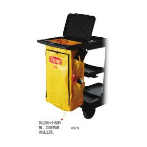TRUST/特耐适 清洁车配件-带侧袋垃圾袋 6978-黄色 适用于5011 438×267×775×mm 黄色 1个