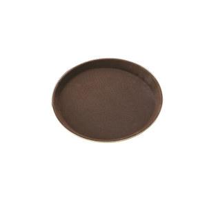 TRUST/特耐适 圆形玻璃钢防滑托盘 8253 棕色 直径40.6cm 1个