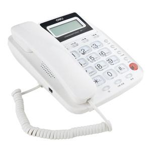 DELI/得力 电话机 781 白色 1台
