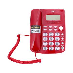 DELI/得力 电话机 787 红色 1台