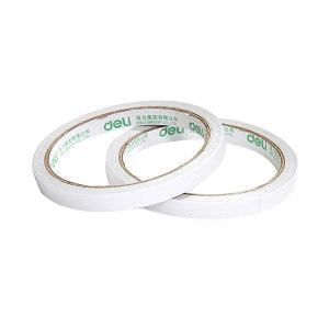 DELI/得力 棉纸双面胶带 30400 10y×9mm 白色 32卷装 1袋