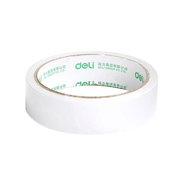 DELI/得力 棉纸双面胶带 30403 10y×24mm 白色 12卷装 1袋