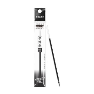 DELI/得力 子弹头中性笔芯 S760 0.5mm 黑色 1支