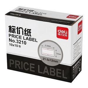 DELI/得力 标价纸 3210 适用7505标价机 10卷 1筒