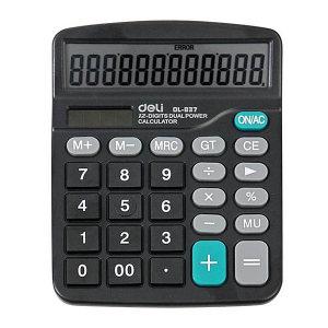 DELI/得力 桌面计算器 837 黑色 1台