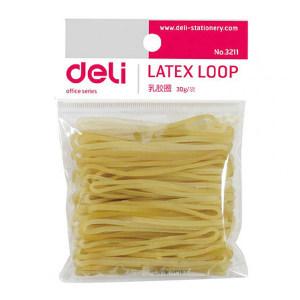 DELI/得力 乳胶圈 3211 30g 微黄 1包