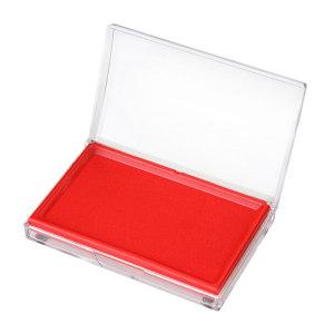 DELI/得力 快干印台 9864 外尺寸85×135mm 内尺寸68×118mm 红色 1只