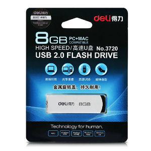 DELI/得力 U盘 3720 8G USB2.0 灰色 1只