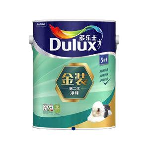 DULUX/多乐士 金装第二代5合1净味内墙乳胶漆 实际品名是墙面漆 哑光白 18L 1桶