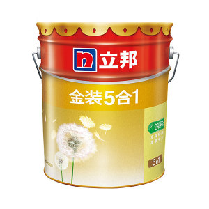 NIPPON/立邦 金装净味5合1内墙乳胶漆 金装净味5合1 哑光白 18L 1桶