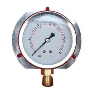 TC/天川 304不锈钢耐震压力表(径向 带后边) Y100/0-1.6MPA/M20*1.5 耐震/带后边/1.6级 1个