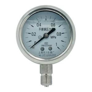 TC/天川 普通不锈钢耐震压力表(径向 不带边) Y100/0-1MPA/M20*1.5 耐震/不带边/1.6级 1个