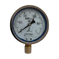 TC/天川 普通不锈钢耐震压力表(径向 不带边) Y100/0-1.6MPA/M20*1.5 耐震/不带边/1.6级 1个