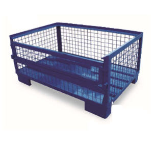 ZKH/震坤行 焊接式金属网箱(单面全可脱门) RCC128050 1200*800*500 1个