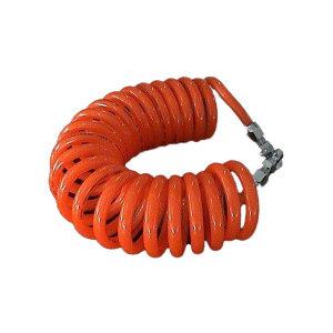 ZHENGMI/正密 PU弹簧气管(带碳钢快速接头) CLW-0850-6M 8(5)mm×6m PU 橘红色 1根