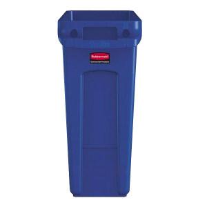 RUBBERMAID/乐柏美 带通风管道SlimJim™垃圾桶 1971257 55.9×27.9×63.5cm 60.6L 蓝色 1个
