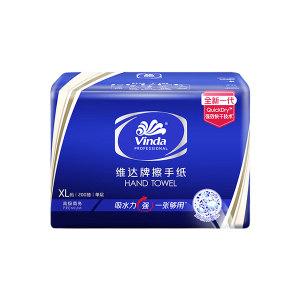 VINDA/维达 高级商务擦手纸(单层) VS2056 222×226mm 200抽×20包 1箱