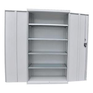 AOXU 多功能双门存储柜 SC-1500 浅灰色 1000×500×1800mm 层板数4 带锁 1个