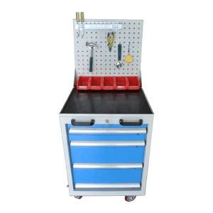 AOXU 蓝色移动多功能四层抽屉工具车 AX-C4B 蓝色 带锁 566×600×(850+550)mm 1台