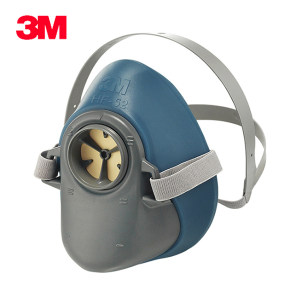 3M 硅胶呼吸防护半面具 HF-52 中/大号 1个