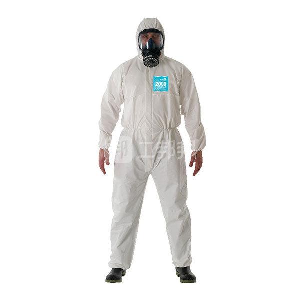 ANSELL/安思尔 2000系列标准型连体化学防护服 WH20-B-99-157-04 L 白色 1件