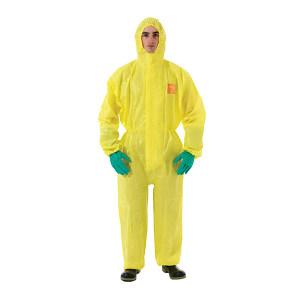 ANSELL/安思尔 3000系列双袖连体化学防化服 YE30-W-99-111-05 XL 黄色 1件