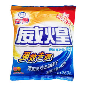 BAIMAO/白猫 速溶高效洗衣粉 6901894118328 260g 1袋