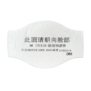 3M 1200系列防尘颗粒物过滤棉 1705CN 适用于1200 1片