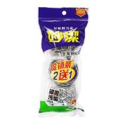 MIAOJIE/妙洁 金属钢丝球2+1只装 MHB2 3只装 1包
