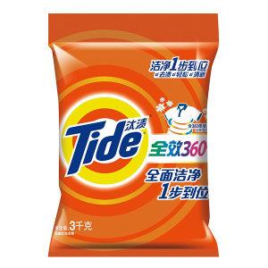 TIDE/汰渍 全效360度洗衣粉 6903148117002 3kg 洁雅百合香型 1袋