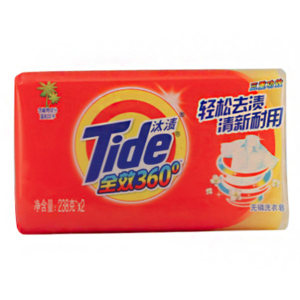 TIDE/汰渍 全效360度三重功效洗衣皂 6903148070963 238g×2块 1组