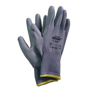 ANSELL/安思尔 涤纶PU掌部涂层手套 48129080 8码 灰色 1副