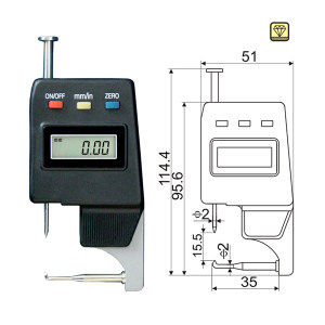 GUANGLU/广陆 尖头数显卡表 315-181 0-15mm 0.01mm 不代为第三方检测 1只
