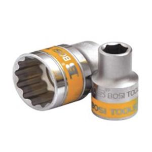 BOSI/波斯 12.5mm系列公制双色套筒(十二角) BS361819B 19mm 1只