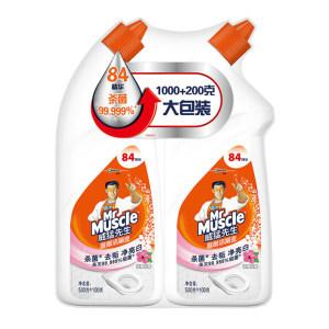MRMUSCLE/威猛先生 洁菌适除菌洁厕液(淡雅花香) 6901586106497 600g×2瓶 1组
