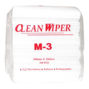 CLEANROOM/净雅 擦拭纸 M-3 无纺布(软) 36±3g 250*250mm 100张/包 1包