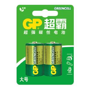 GP/超霸 碳性电池 GP13G BJ2 1号 2粒装 1包