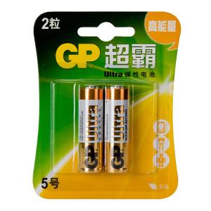 GP/超霸 5号碱性电池 GP15A-L2 2粒装 1包