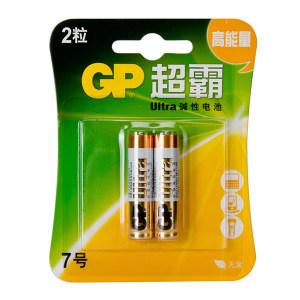 GP/超霸 7号碱性电池 GP24A-L2 2粒装 1包