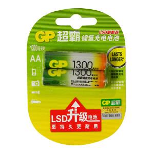 GP/超霸 充电电池 GP130AAHC-2IL2 5号 1300毫安 2粒装 1包