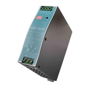 MW/明纬 EDR-120系列120W工业用DIN导轨型单组输出电源供应器 EDR-120-24 1个